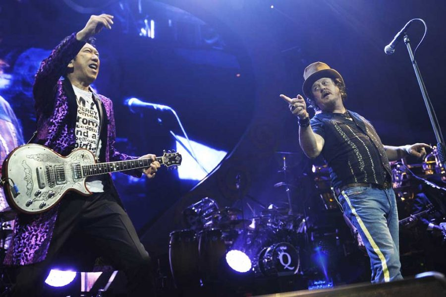 Hotei performs at Royal Albert Hall, London, with Zucchero